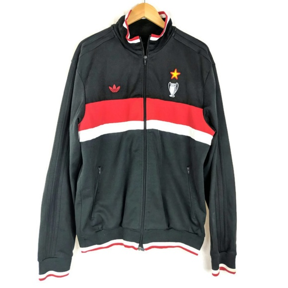 6a7a0e10db Adidas AC Milan Mediolanum Soccer Track Jacket